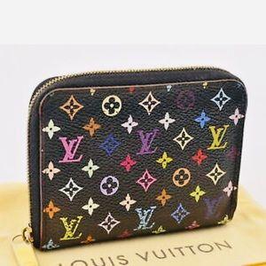 Black multicolor Louis Vuitton Zippy Coin Purse